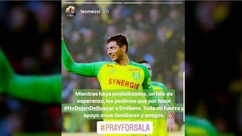 اعتراض مسی و ستارگان فوتبال به توقف جستوجو برای یافتن سالا