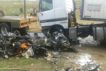 تصادف در محور بوکان - میاندوآب یک کشته برجا گذاشت