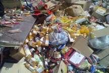 نابودی 438 کیلوگرم مواد غذایی غیربهداشتی در نی ریز