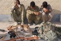 12 شکارچی غیرمجاز در البرز دستگیر شدند