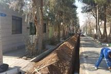 1500 متر از شبکه توزیع آب خاورشهر بازسازی شد