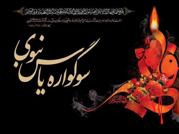 برپایی سوگواره یاس نبوی در بقاع متبرکه گلستان