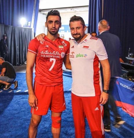 دیدار ملیپوش والیبال ایران و مربی لهستان در شیکاگو+ عکس