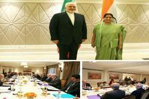 ظریف با وزیر امور خارجه هند دیدار کرد