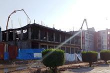 بخشی از یک ساختمان تجاری درحال ساخت در بندر ماهشهر فروریخت