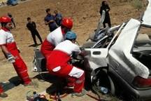 تصادف پراید با تریلر جان سه نفر را در ازنا گرفت