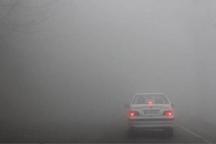 مه شدید باعث کاهش دید افقی در برخی جاده های کردستان شد