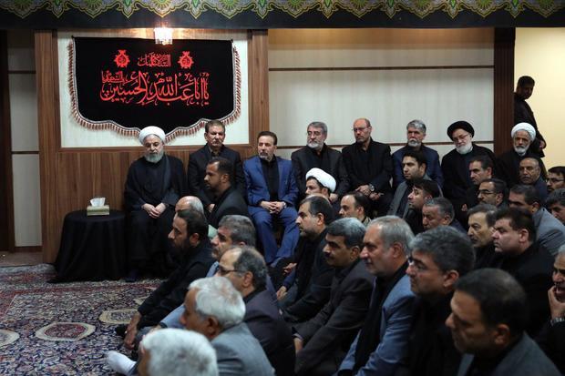 مراسم عزاداری حضرت اباعبدالله الحسین (ع) در دفتر رییس جمهور برگزار شد