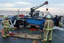 واژگونی خودرو در آزادراه همدان - ساوه یک قربانی گرفت